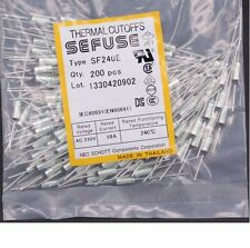 10Pcs SF240E SEFUSE Cutoffs NEC Thermal Fuse 240°C  Celsius Degree 10A 250V