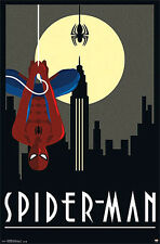 Marvel Comics Art Deco Series SPIDER-MAN BY MOONLIGHT Official Wall Poster