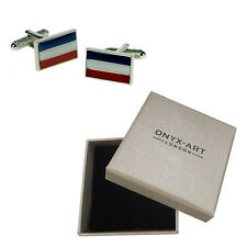 Mens Dutch Flag Country Netherlands Cufflinks & Gift Box By Onyx Art