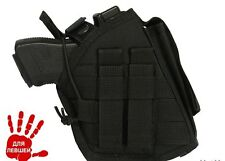 Russian Pouch holster left southpaw Glock Walther Colt 1911 molle airsoft black