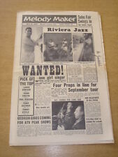 MELODY MAKER 1958 JULY 19 RIVIERA JAZZ FOUR PREPS LONNIE DONEGAN FRANK SINATRA +