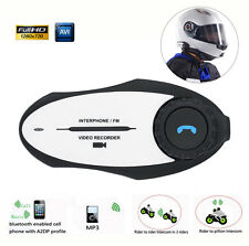 500M Interphone BT Bluetooth Motorcycle Helmet Intercom Headset HD 720P Record