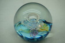 SELKIRK GLASS PAPERWEIGHT CELEBRATION 2001 SIGNED STUDIO ART GLASS SCOTLAND