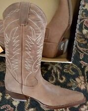 Womens Boterine Botas Colombian Brown Leather Western Cowboy Boots Size 11 New