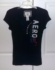 NWT Aeropostale Stretch Navy Blue Henley Shirt Top with Buttons Size XL CUTE!!!!