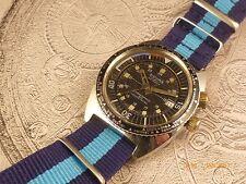 Montre plongée Sicura Breitling double bezel vintage 70's swiss diver watch 400