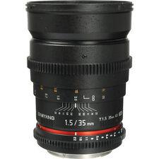 Samyang 35mm T/1.5 VDSLR II Cine Lens T1.5 for Canon EF Brand New