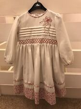 Sarah Louise Girls Smocked Dress Age 3 Years Designer Traditional Clothes