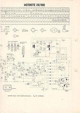 Schaltbild Motorette 210/7800  B732