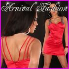 NEW SEXY RED COCKTAIL DRESS 6 8 10 12 14 EVENING WOMENS PARTY WEAR LADIES FORMAL