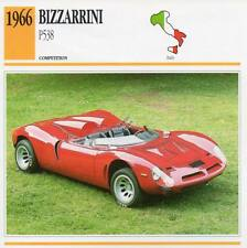 1966 BIZZARRINI P538 Racing Classic Car Photo/Info Maxi Card