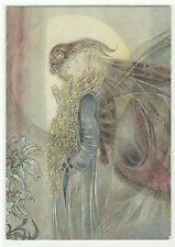 German Art Postcard- Gliding with Butterfly by Sulamith Wulfing {New}