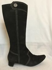 LADIES TOD'S BLACK SUEDE KNEE HIGH BOOTS SIZE 37 UK 4