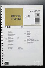 PHILIPS RADIO 50 IC 100 Original Service-Manual/Anleitung/Schaltplan! o35