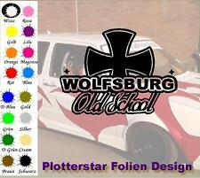 Wolfsburg Old School Iron Cross Sticker Aufkleber Fun Geil Like Tuning Race
