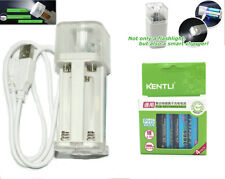4pc KENTLI 1.5v 2800mWh rechargeable Lithium AA battery + LED Flashlight charger
