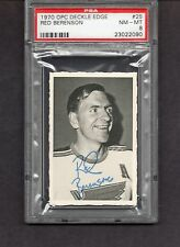 1970-71 O PEE CHEE DECKLE EDGE # 25 RED BERENSON   PSA 8  INV 3