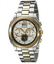 Bulova Men's Dress Gold Two/Tone Chronograph Watch 98B232 RRP £299 Deal