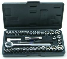 Rolson  Socket Set Hand Tools Garage Equipment Vehicle Screwdriving - 40 Pieces
