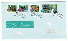 AUSTRALIA 2004 FAUNA & FLORARAINFOREST BUTTERFLIES SET OF 4 FIRST DAY COVER