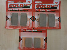 SUZUKI GSX-R 750 ( WP ) GSXR750 1993   FULL SET SINTERED HH BRAKE PADS *GOLDFREN