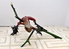 OUT ON A LIMB by Frogman Tim Cotterill Bronze Frog