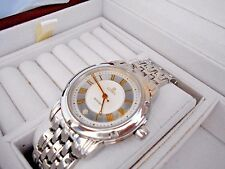 Mint Men's Gevril A0111R Automatic Date Stainless Swiss Watch. Box and Papers