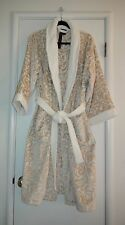TAHARI WOMEN'S TERRY SPA SHOWER BATH ROBE GOLD CREAM FLORAL BAROQUE  L / XL NWT