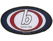 BLINK 182 oval logo 2007 - WOVEN SEW ON PATCH official merchandise