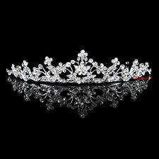 2.5cm Hoch Blume Blatt Hochzeit Braut Haarschmuck Haarreif Krone Diademe Tiara