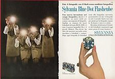 Pubblicità Advertising Werbung 1966 SYLVANIA Blue Dot Flashcube