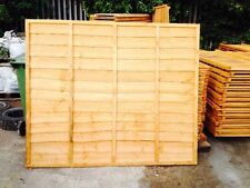 Wooden Fence Heavy Duty Lap Panel 6ftx4ft Fully framed 5 bars BARGAIN