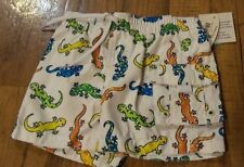 Boys 0-3 Months Lizard WAVE ZONE Infant Swimtrunks NWT Brand New White w/Colors