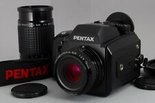 Near Mint Pentax 645N with 75mm 200mm 2Lens 645 for 67 Adapter from Japan a112