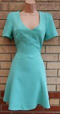 MISS SELFRIDGE MINT GREEN SKATER A LINE CUT OUT BACK PARTY A LINE RARE DRESS 10