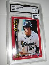($300) Mike Trout ORIGINAL 2010 RED SP ROOKIE Minor Kernels GRADED 10