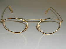48mm VINTAGE B&L RAY BAN 24K GOLD PLATED CLASSIC SUNGLASSES/EYEGLASS FRAMES ONLY
