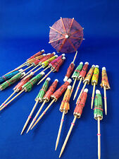 New Paper cocktail Drink umbrellas 24 pack variety of colours party bar