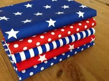 Blenders fabric ROYAL BLUE and RED Spots & Stars Fat Quarter Bundle 100% cotton