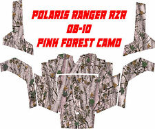 Polaris ranger rzr 08-10 side X side PINK FOREST camo Wrap Decal Sticker kit