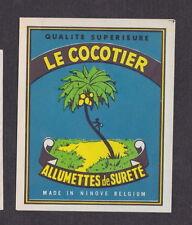 ancienne étiquette allumettes de paquet  Belgique  BN13595 Le Cocotier