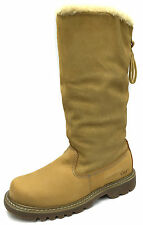 "New CAT Bruiser Scrunch Hi 13"" Womens Boots Size UK 7/ HONEY / P305862"