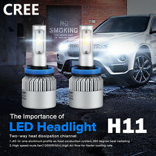 NEW CREE H11 120W 12000LM LED Headlight Kits Bulbs Light Lamp Pure White 6000K
