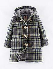 Brand New MINI BODEN Funky Duffle Coat Age 5-6 In Marl Grey Check  Warm & Cosy