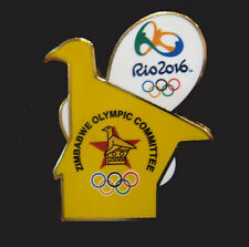 2016 RIO BRAZIL 31st Summer OLYMPIC NOC ZIMBABWE RARE Bird Internal Team pin