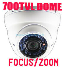 Sony EFFIO CCD 700TVL Varifocal 2.8-12mm WHITE OUTDOOR CCTV Security DOME Camera