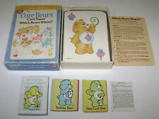 2 VINTAGE CARE BEARS CARD GAMES WHICH BEARS WHERE? & MATCH UP FUN! COMPLETE 80'S