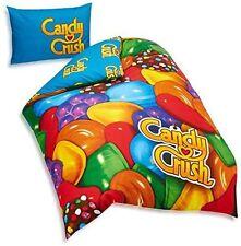 Candy crush lit simple panneau parure de couette en polycoton