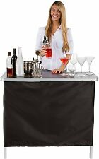 Portable Mini Bar Cabinet Office Home Outdoor Collapsible With Carry Store Case