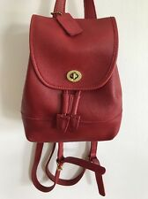 VINTAGE COACH RED MINI BACKPACK WITH GOLD HARDWARE PRISTINE